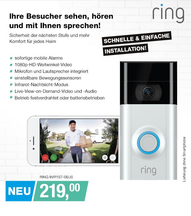 Artikel: RING 8VR1S7-0EU0; EUR 219.95