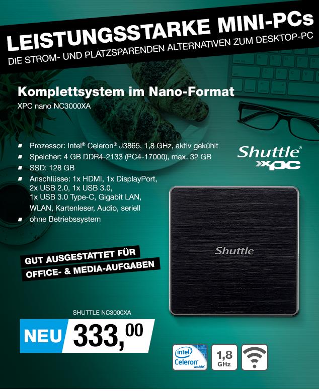 Artikel: SHUTTLE NC3000XA; EUR 319.95