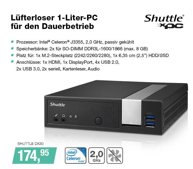 Artikel: SHUTTLE DX30; EUR 159.00