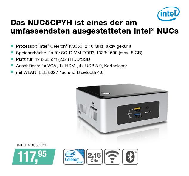 Artikel: INTEL NUC5CPYH; EUR 113.95
