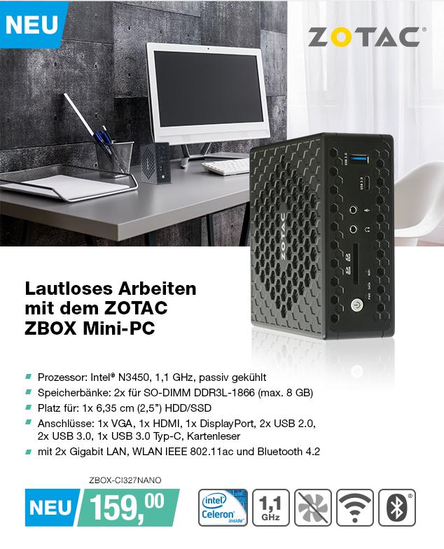 Artikel: ZBOX-CI327NANO; EUR 149.95