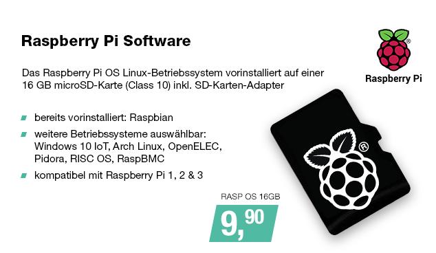 Artikel: RASP OS 16GB; EUR 9.90