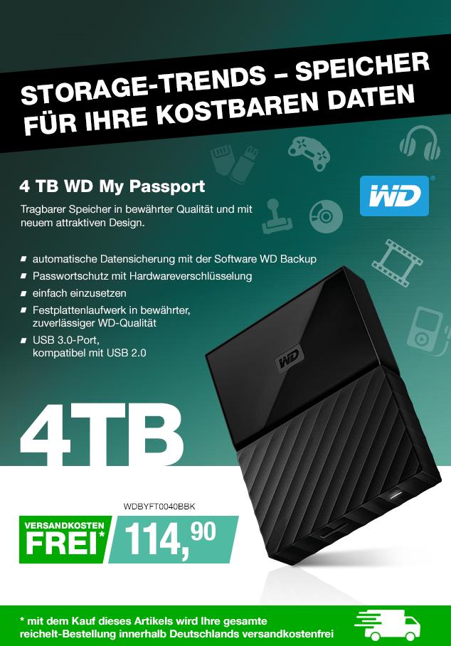 Artikel: WDBYFT0040BBK; EUR 125.90