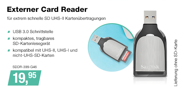 Artikel: SDDR-399-G46; EUR 19.95