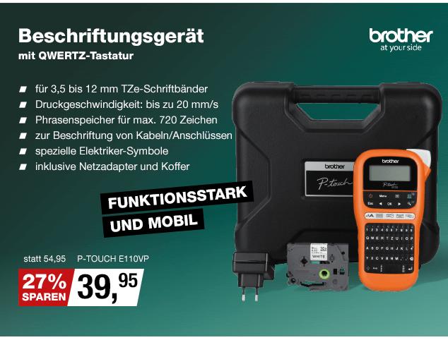 Artikel: P-TOUCH E110VP; EUR 29.99