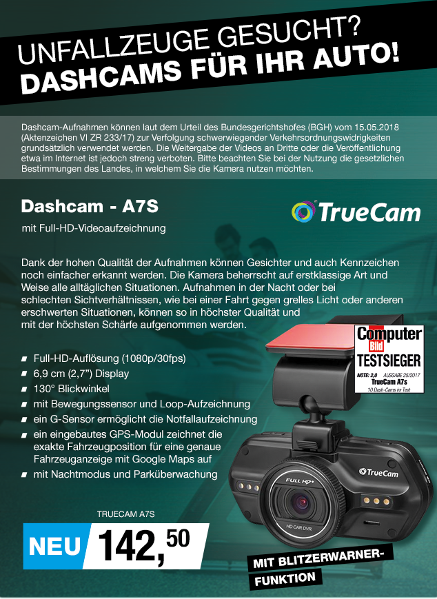 Artikel: TRUECAM A7S; EUR 142.50