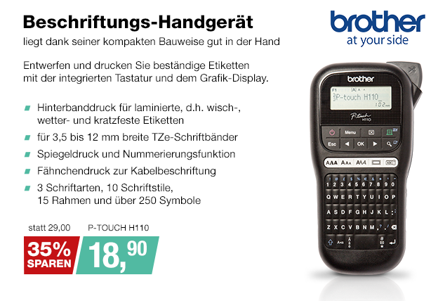 Artikel: P-TOUCH H110; EUR 29.00