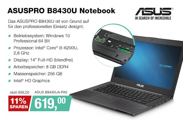 Artikel: ASUS B8430UA-FA0; EUR 699.00
