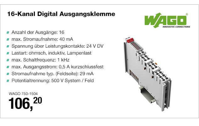 Artikel: WAGO 750-1504; EUR 109.90