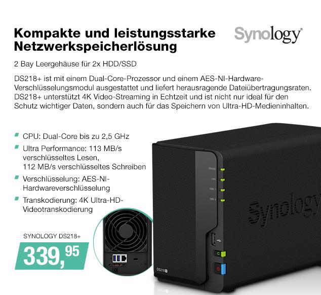 Artikel: SYNOLOGY DS218+; EUR 339.95