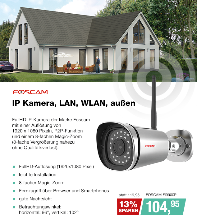 Artikel: FOSCAM FI9900P; EUR 98.77