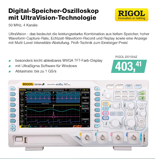 Artikel: RIGOL DS1054Z; EUR 406.80
