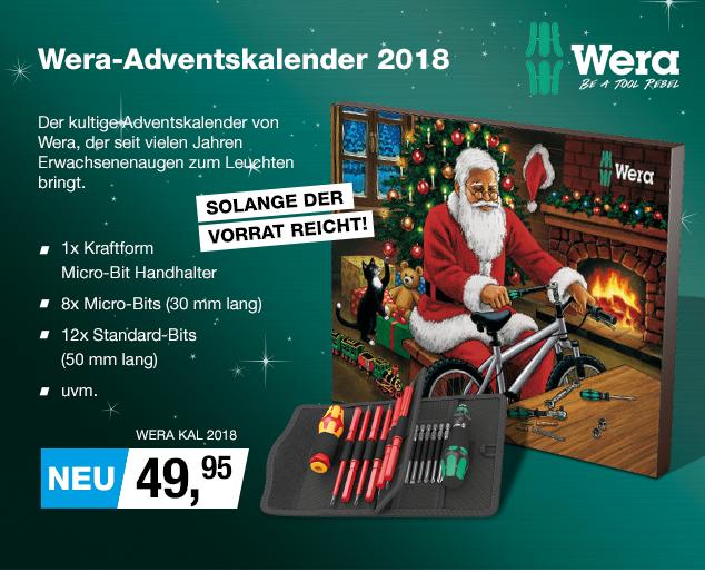 Artikel: WERA KAL 2018; EUR 50.37