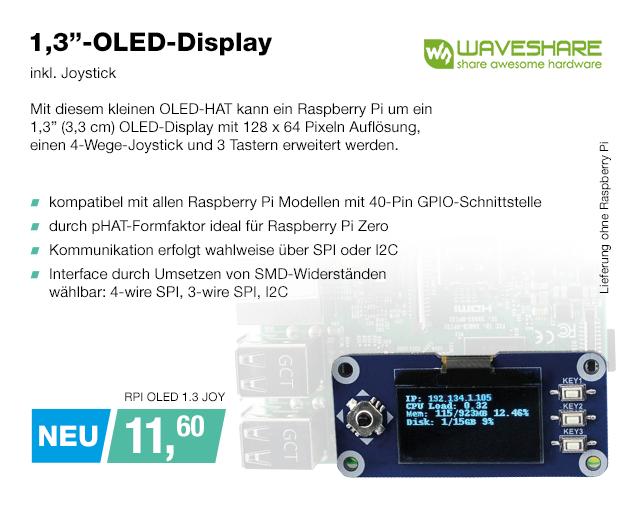 Artikel: RPI OLED 1.3 JOY; EUR 11.60