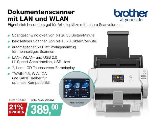 Artikel: BRO ADS-2700W; EUR 495.00
