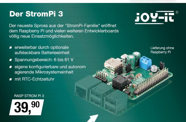Artikel: RASP STROM PI 3; EUR 39.90