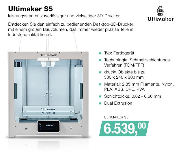 Artikel: ULTIMAKER S5; EUR 6539.00