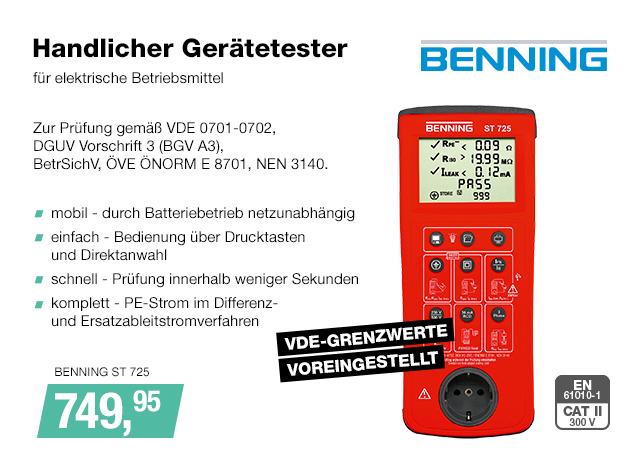 Artikel: BENNING ST 725; EUR 749.95