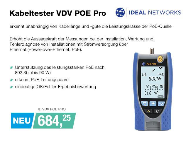 Artikel: ID VDV POE PRO; EUR 684.25