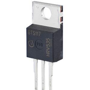 MOSFET, N-CH, 60V, 3,5A, SOT-263 INFINEON BTS117