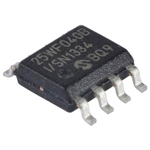 SPI serial flash, 2.7 V, 4 Mbit, USON-8 MICROCHIP SST25VF040B-50-4I-S2AE