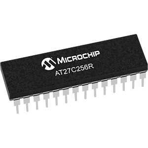 OTP-EPROM, 256 Kb (32 K x 8) , 45 ns , 5 V, PDIP-28 MICROCHIP AT27C256R-45PU