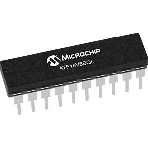 EE-PLDs, 8 macro cells, 62 MHz, 5 Vcc, 15ns, DIL-20 MICROCHIP ATF16V8BQL-15PU