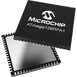 8-Bit-ATMega AVR® Mikrocontroller, 128 kB, 16 MHz, QFN-64 MICROCHIP ATMEGA128RFA1-ZU