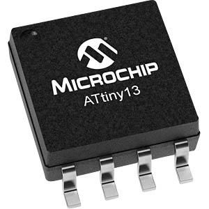 8-bit ATtiny AVR-RISC microcontroller, 1 KB, 20 MHz, SO-8 MICROCHIP ATTINY13-20SU
