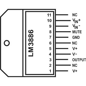 Audioverstärker, 68W, TO-220-11 TEXAS INSTRUMENTS LM3886T/NOPB