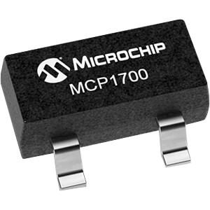 LDO-Festspannungsregler, 3,3 V, 250mA, SOT-23-3 MICROCHIP MCP1700T-3302E/TT
