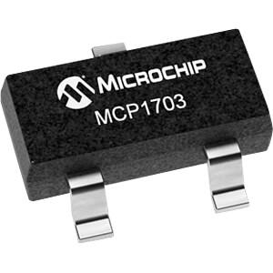 LDO-Regler, fest, 3,3 V, SOT-23-3 MICROCHIP MCP1703T-3302E/CB