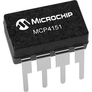 Digitalpoti, 1-Kanal, 257 Schritte, 100 kOhm, DIP-8 MICROCHIP MCP4151-104E/P