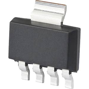 PSRR voltage regulator, 5 V, SOT-223-5 MICROCHIP MCP1755T-3302E/DC
