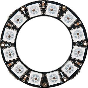 Entwicklerboards - NeoPixel-Ring mit 12 RGB-LEDs ADAFRUIT 1643
