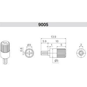 Steckachse für ACP 9-SRS Serie, ø5x10,0mm, gr ARAGONESA DE COMPONENTES 9005