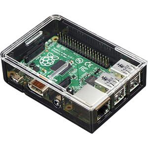 Gehäuse für Raspberry Pi 3, Kunststoff, schwarz/transparent ADAFRUIT 2258