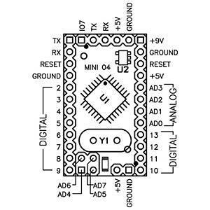 Arduino Mini Ver. 5, ATmega328 ARDUINO A000087