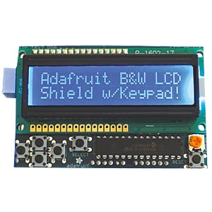 Arduino Shield - Display LCD-Kit, 16x2 blau/weiß ADAFRUIT 772