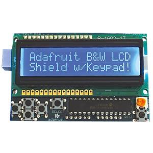 Arduino Shield LCD Kit, 16x2 blau/weiß Display ADAFRUIT 772