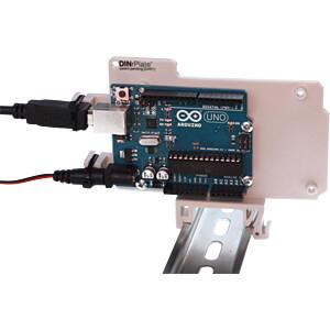 Arduino - Hutschienenhalterung für Uno / Mega, grau FREI DAR1-GR