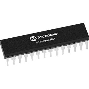Microcontrollore ATMega AVR a 8 bit, 32 KB, 20 MHz, PDIP-28 MICROCHIP ATMEGA328P-PU