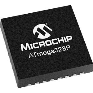 8-Bit-ATMega AVR® Mikrocontroller, 32 KB, 20 MHz, VQFN-32 gegurt MICROCHIP ATMEGA 328P-MU