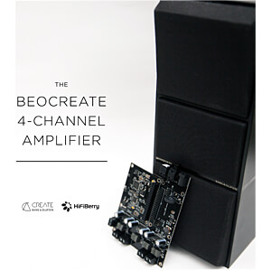Raspberry Pi Shield - Beocreate 4 Channel Amplifier HIFIBERRY BEOCREATE AMP