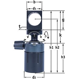Holder for laser module D=10.3 mm, 1/4'' UNC female thread PICOTRONIC 70117851