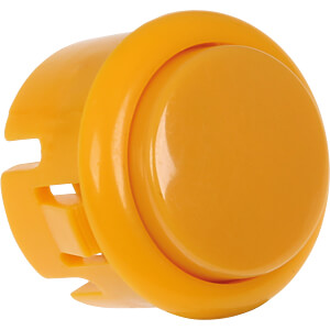Mini Arcade Button mit Mikroschalter, Ø=33 mm, gelb JOY-IT BUTTON-YELLOW-MINI