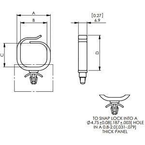 Kabelsattel, für 19 mm, Kunststoff, Ø 4,75 mm, 50er-Pack RND COMPONENTS RND 610-00282