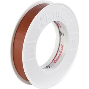 VDE Elektroisolierband, 25 m, 15 mm, braun COROPLAST 1436