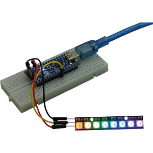 Development boards - NeoPixel stick with 8 WS2812 5050 RGB LEDs FREI