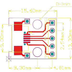 Entwicklerboards - Breakout-Board mit microUSB 2.0 SERTRONICS MUSB-BO